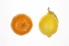 Limão e mandarino Imagem de Stock Royalty Free