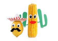 Limão e milho dois Foto de Stock