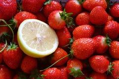 Limão e morango Foto de Stock