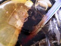 Limão e palha Imagem de Stock