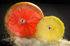 Limão e pamplumossa Fotografia de Stock Royalty Free