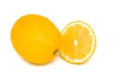 Limão e segmento Foto de Stock