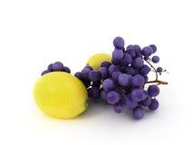 Limão e uva Fotografia de Stock