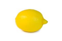 Limão em um fundo branco Foto de Stock