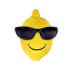 Limão engraçado nos óculos de sol Imagens de Stock Royalty Free
