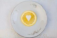Limão fresco com açúcar Fotos de Stock Royalty Free