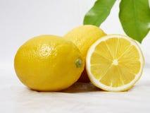 Limão fresco com a folha para a imagem do fruto fotos de stock royalty free