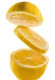 Limão fresco em um fundo branco Imagem de Stock