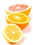 Limão, laranja e pamplumossa imagem de stock royalty free