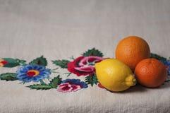 Limão, mandarino e laranja Fotos de Stock Royalty Free
