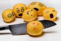 Limão matado Fotos de Stock Royalty Free