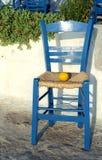 Limão na cadeira azul Fotografia de Stock