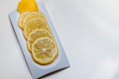 Limão na placa Fotografia de Stock Royalty Free