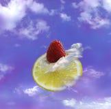 Limão no céu Fotografia de Stock Royalty Free