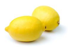 Limão no fundo branco Imagens de Stock