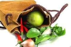 Limão, pimentões, e alho Foto de Stock Royalty Free