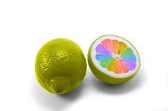 Limão pintado arco-íris imagem de stock royalty free