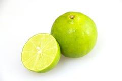 Limão verde fresco que corta o grupo Imagem de Stock Royalty Free