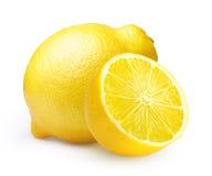 Limón aislado en blanco Fotos de archivo libres de regalías