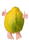 Limón amarillo divertido Imagen de archivo