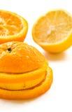 Limón, anaranjado Foto de archivo libre de regalías