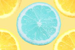 Limón azul Fotos de archivo