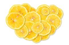 Limón bajo la forma de corazón Fotografía de archivo