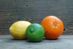 Limón, cal y naranja Imagen de archivo libre de regalías
