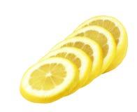 Limón cortado por segmentos Foto de archivo