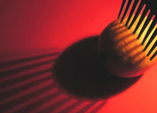 Limón de la cosecha en rojo Fotografía de archivo libre de regalías