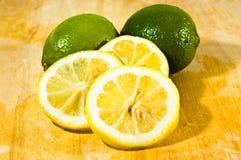 Limón de la fruta cítrica y fruta de la cal Fotografía de archivo libre de regalías