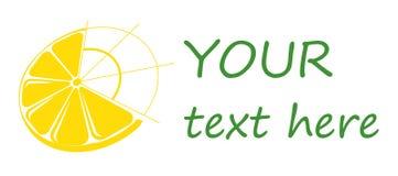 Limón del logotipo, fruta cítrica del logotipo, logotipos del negocio. Imagenes de archivo