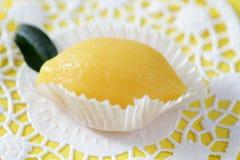 Limón dulce del mazapán Fotos de archivo libres de regalías