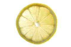 Limón en cierre del agua para arriba Fotos de archivo libres de regalías