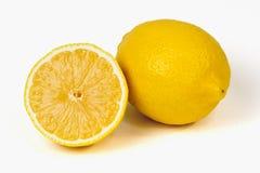 Limón en el fondo blanco Imagen de archivo libre de regalías