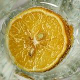 Limón en un vidrio Fotografía de archivo