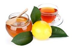 Limón, miel y té Imagen de archivo libre de regalías