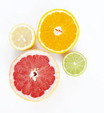 Limón, naranja, cal y pomelo Imágenes de archivo libres de regalías