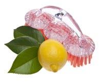 Limón natural limpio Imágenes de archivo libres de regalías