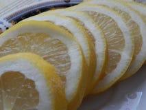 Limón para el té fotos de archivo