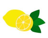 Limón plano del icono Foto de archivo libre de regalías