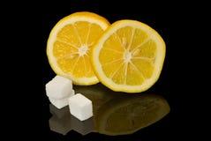 Limón y azúcar fotos de archivo libres de regalías