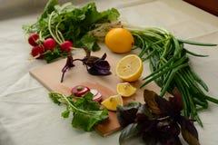 Limón y cebolla Imagen de archivo