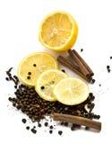 Limón y especias Imagen de archivo libre de regalías