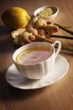 Limón y Ginger Tea Imagenes de archivo