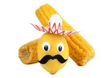 Limón y maíz uno Fotografía de archivo