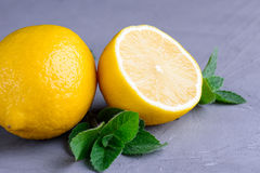 Limón y menta Foto de archivo