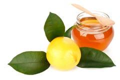 Limón y miel Foto de archivo libre de regalías
