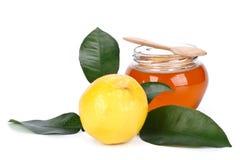 Limón y miel Imagen de archivo libre de regalías