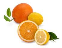 Limón y naranja Imágenes de archivo libres de regalías
